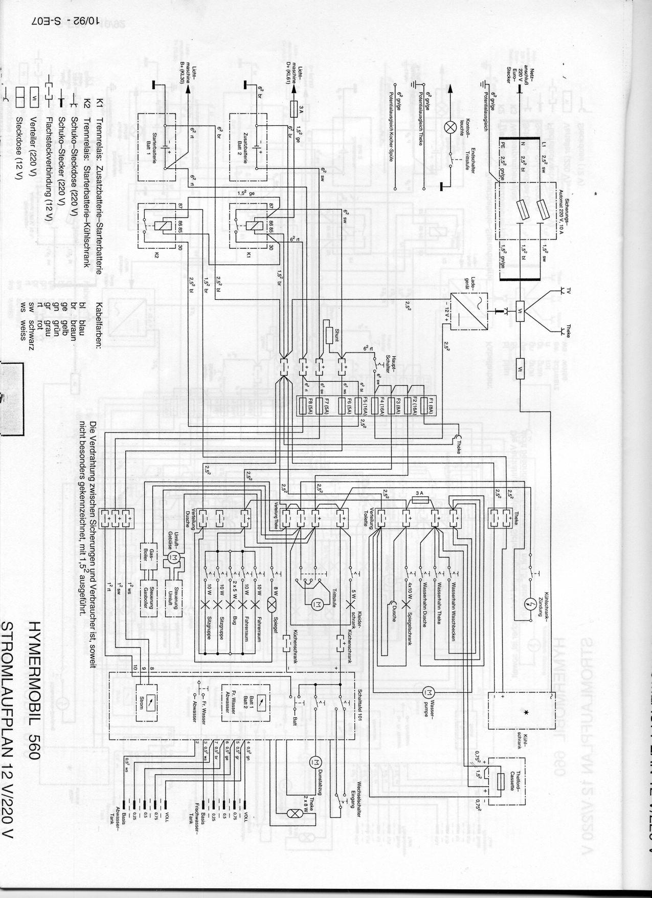 Elektrikproblem  Trennrelais - Hymer S 560 Mercedes Bj  1993